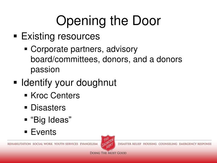 Opening the Door