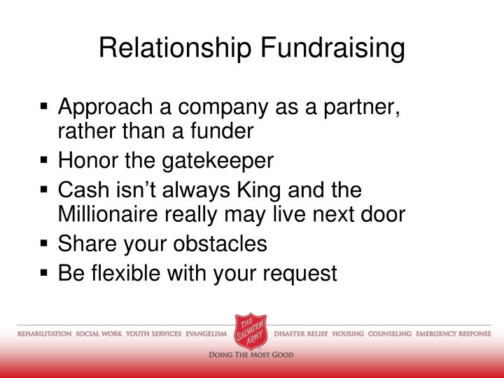 Approach a company as a partner, rather than a funder