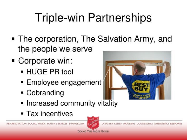 Triple-win Partnerships