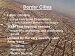 border cities