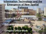 information technology and the emergence of new spatial patterns