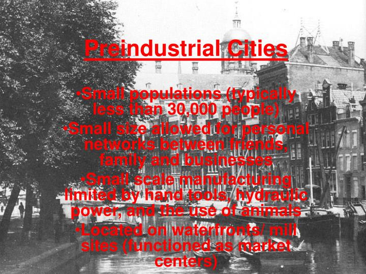 Preindustrial Cities
