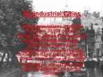preindustrial cities