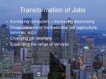 transformation of jobs