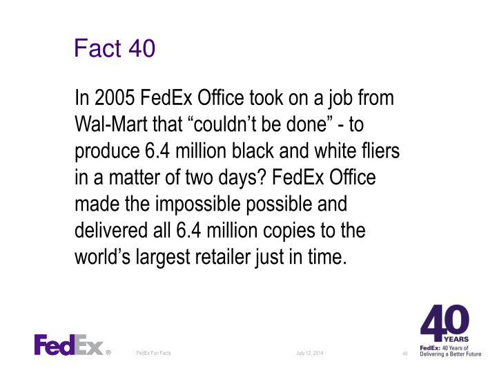 Fact 40