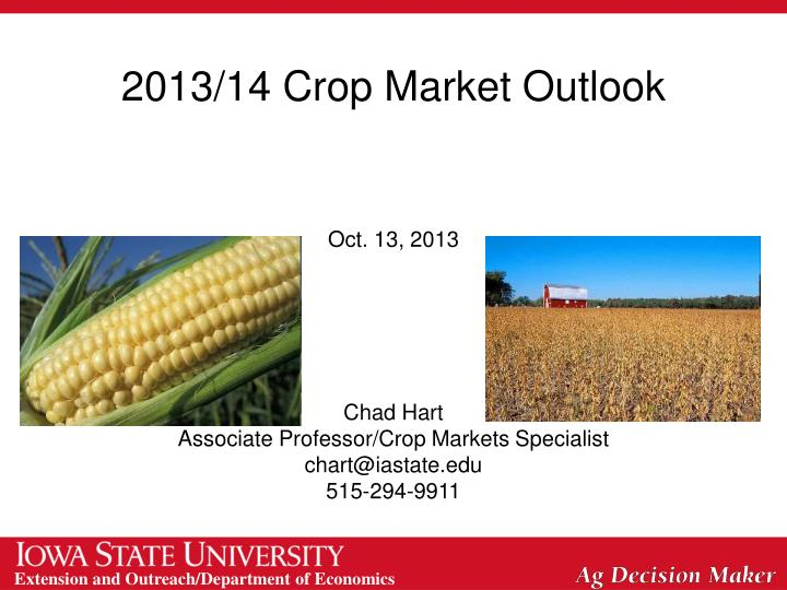 2013/14 Crop Market Outlook