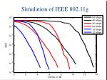 simulation of ieee 802 11g