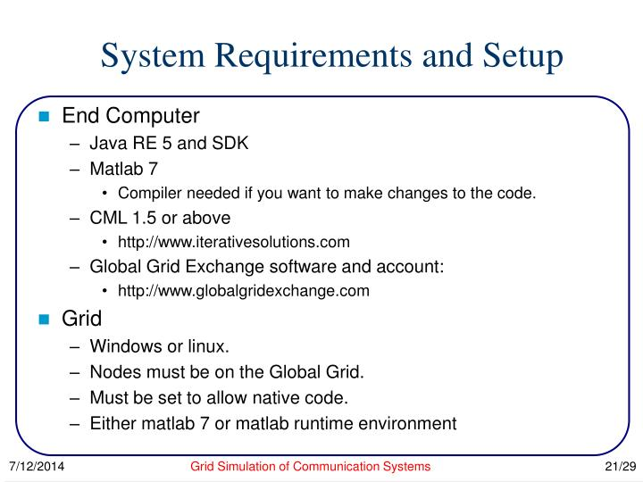 System Requirements and Setup