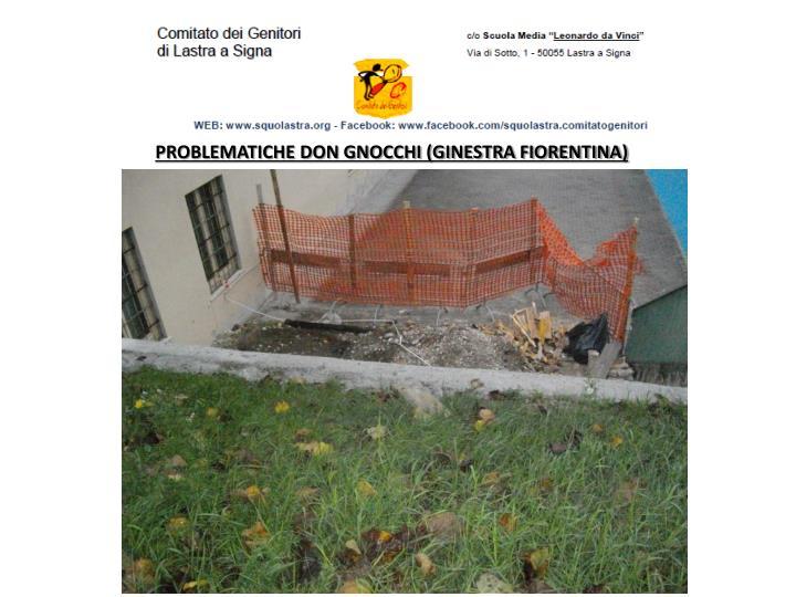 PROBLEMATICHE DON GNOCCHI (GINESTRA FIORENTINA)