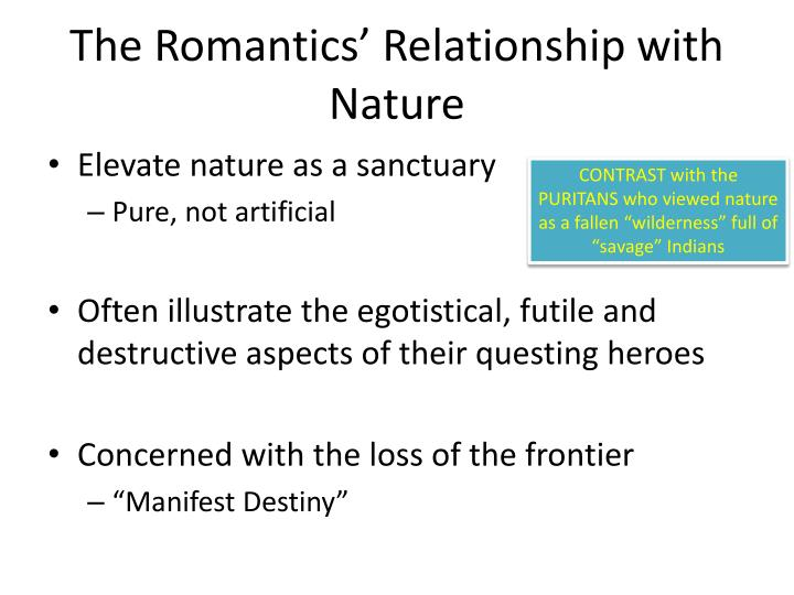 The Romantics' Relationship with Nature