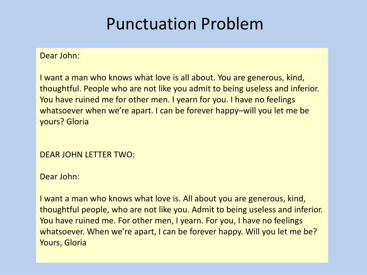 Punctuation Problem