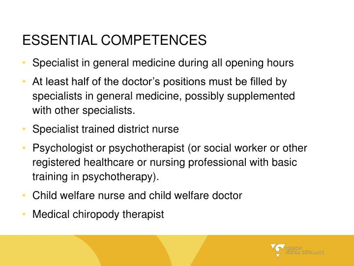 ESSENTIAL COMPETENCES