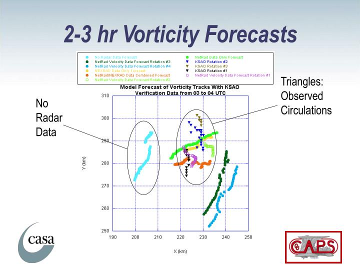 2-3 hr Vorticity Forecasts