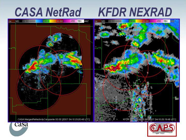 CASA NetRad      KFDR NEXRAD