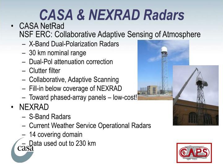 CASA & NEXRAD Radars
