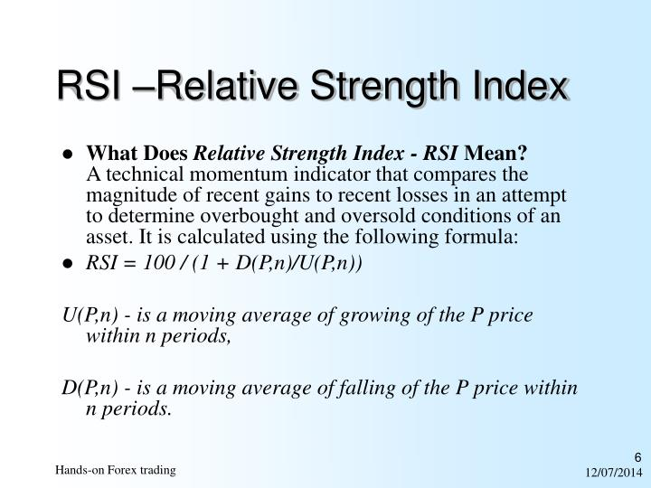 RSI –Relative Strength Index