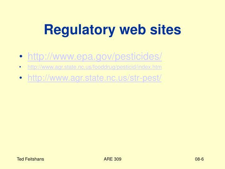 Regulatory web sites