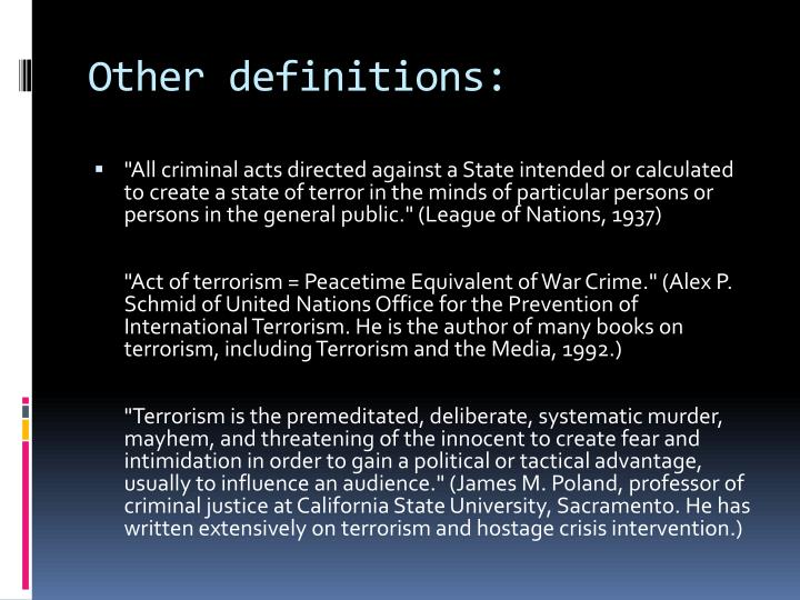 Other definitions: