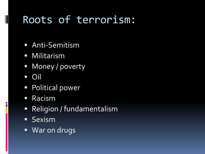 Roots of terrorism