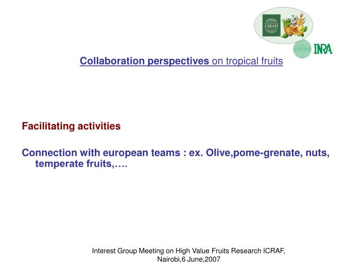 Collaboration perspectives