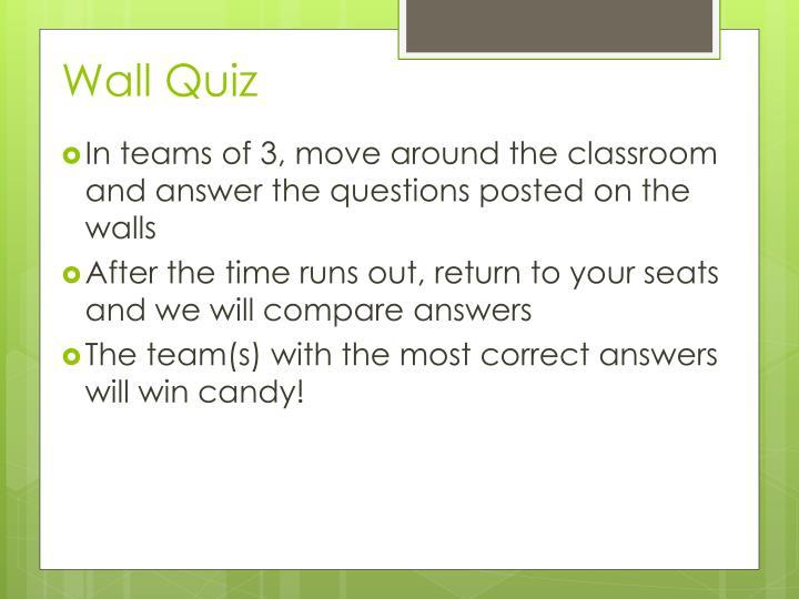 Wall Quiz