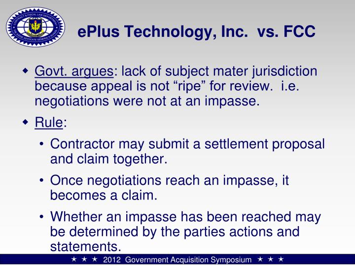 ePlus Technology, Inc.  vs. FCC