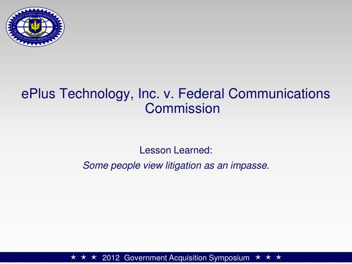 ePlus Technology, Inc. v. Federal Communications Commission
