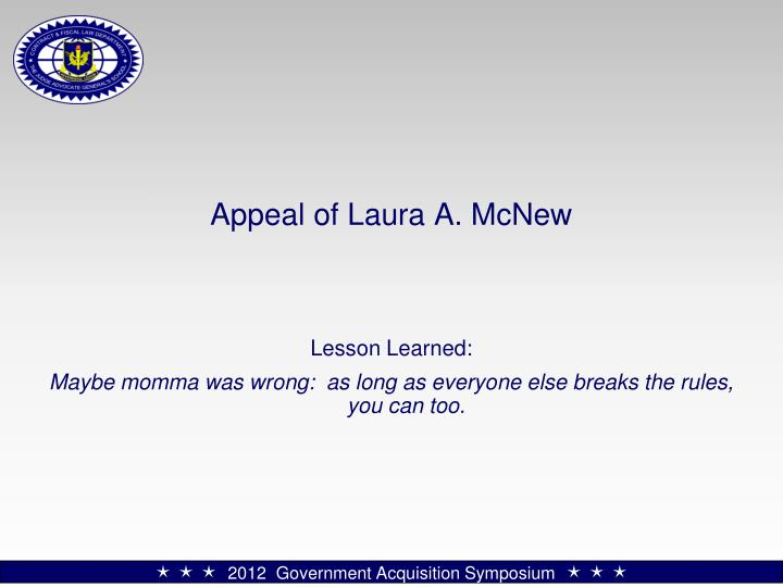 Appeal of Laura A. McNew