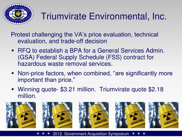 Triumvirate Environmental, Inc.