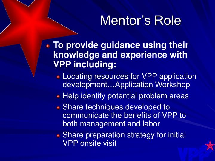 Mentor's Role