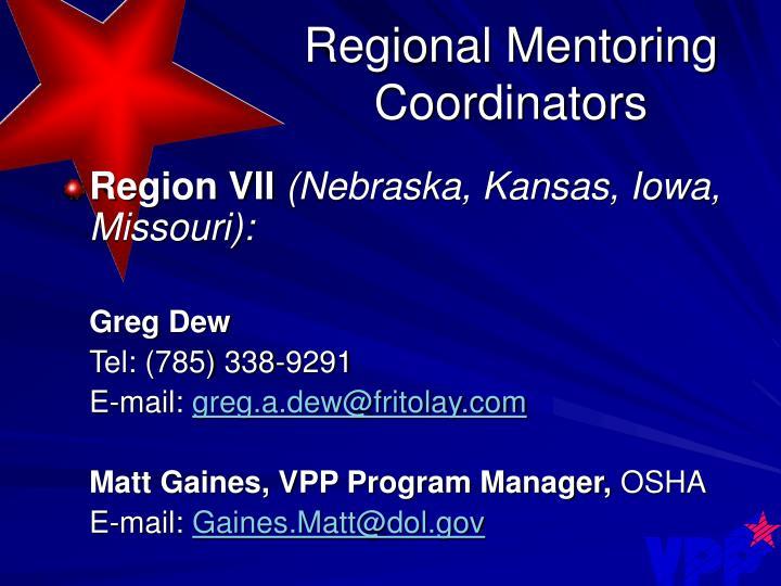 Regional Mentoring Coordinators