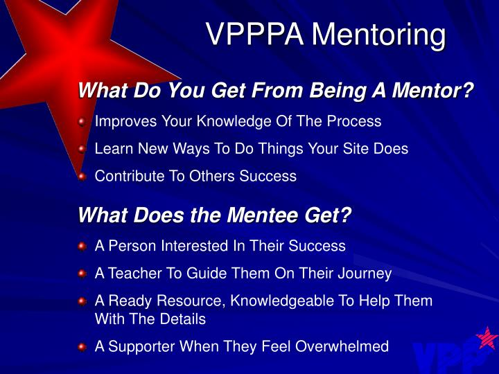VPPPA Mentoring