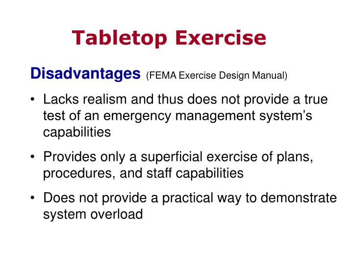 Tabletop Exercise
