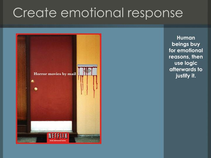 Create emotional response