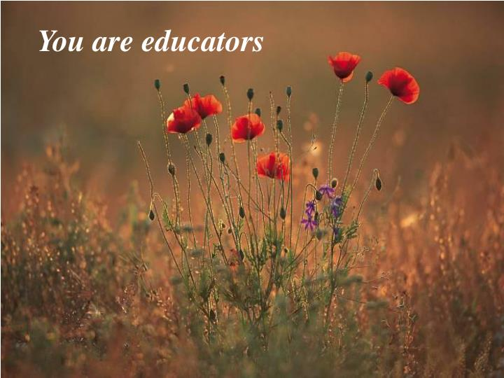 You are educators