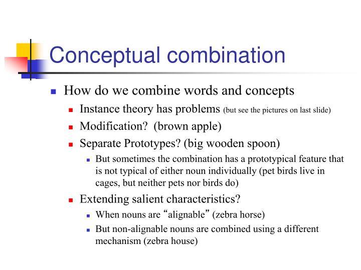 Conceptual combination