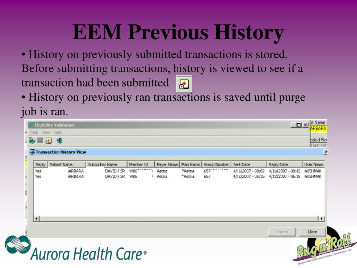 EEM Previous History