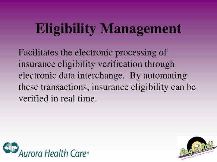 Eligibility Management