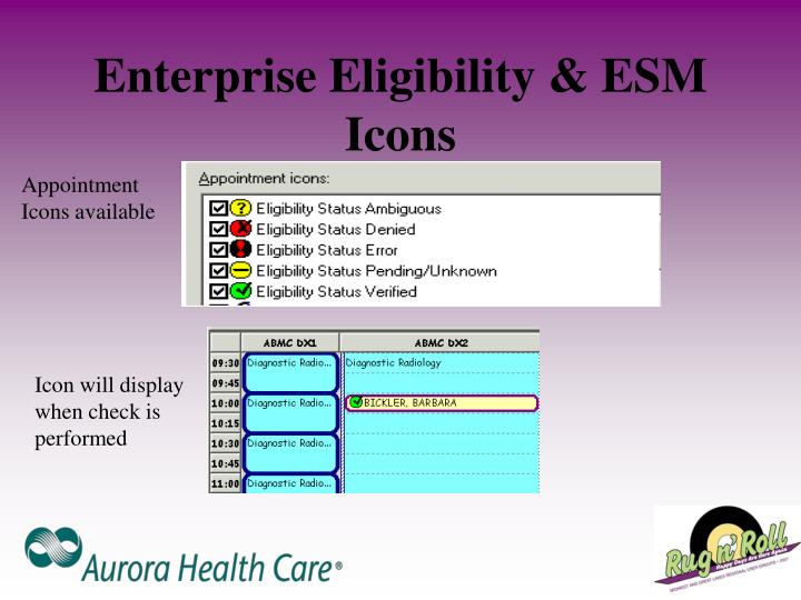 Enterprise Eligibility & ESM Icons