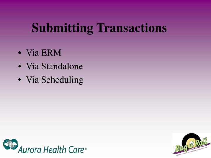 Submitting Transactions