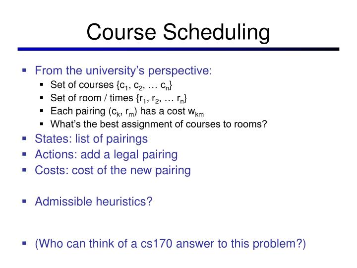 Course Scheduling