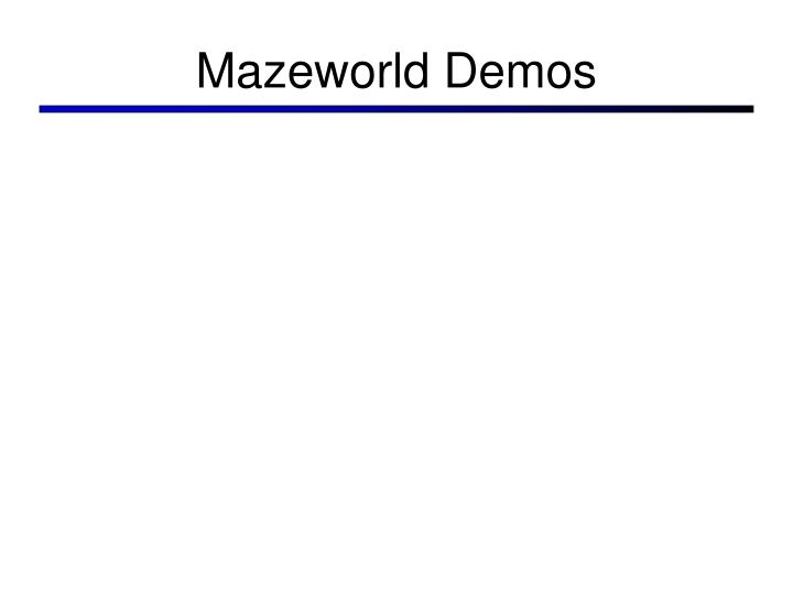 Mazeworld Demos
