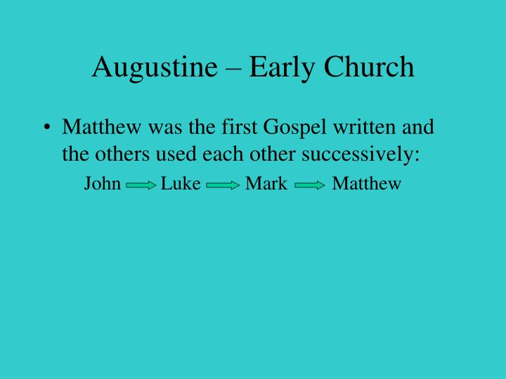 Augustine – Early Church