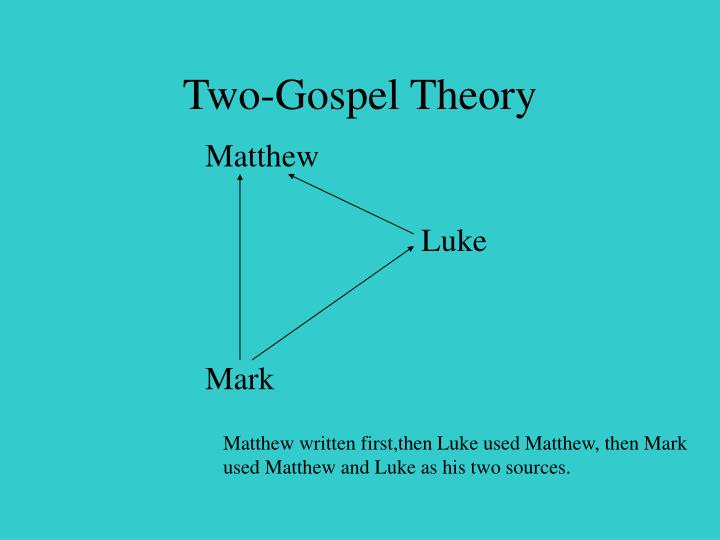 Two-Gospel Theory