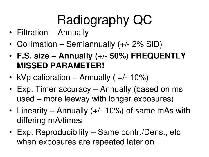 Radiography QC