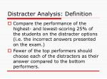 distracter analysis definition