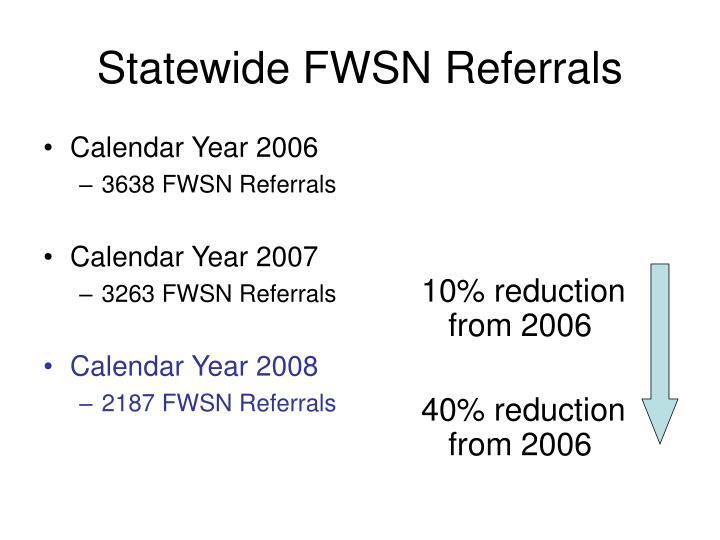 Statewide FWSN Referrals