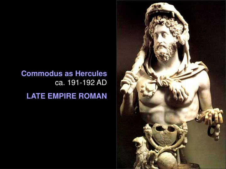 Commodus as Hercules