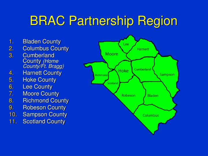 BRAC Partnership Region