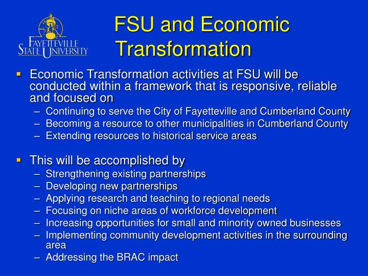 FSU and Economic Transformation